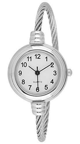 B017Y3YHH2 - Women's Silver Cable Bangle Watch