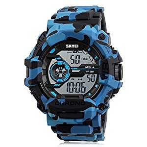 B06XWNP64P - Watch Digital Camouflage Blue