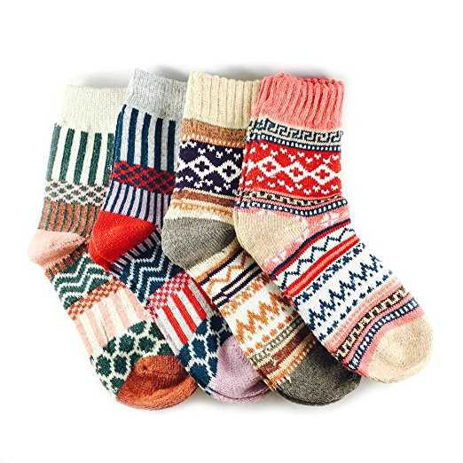 B079SD5TVN - Thick Winter Crew Socks