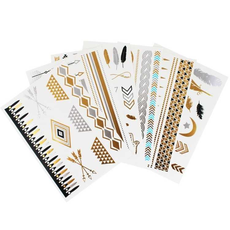 B00YNZZ5QM - Flash Temporary Metallic Tattoos