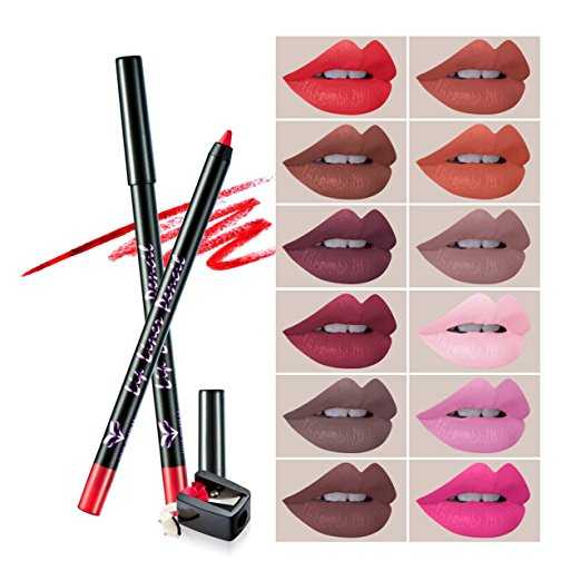 B075P3NWKN - 12Pcs Lip Liner Pencil Set