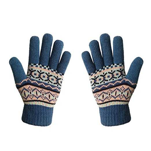 B01M63MUZO - Womens&Girls Thick Knit Gloves