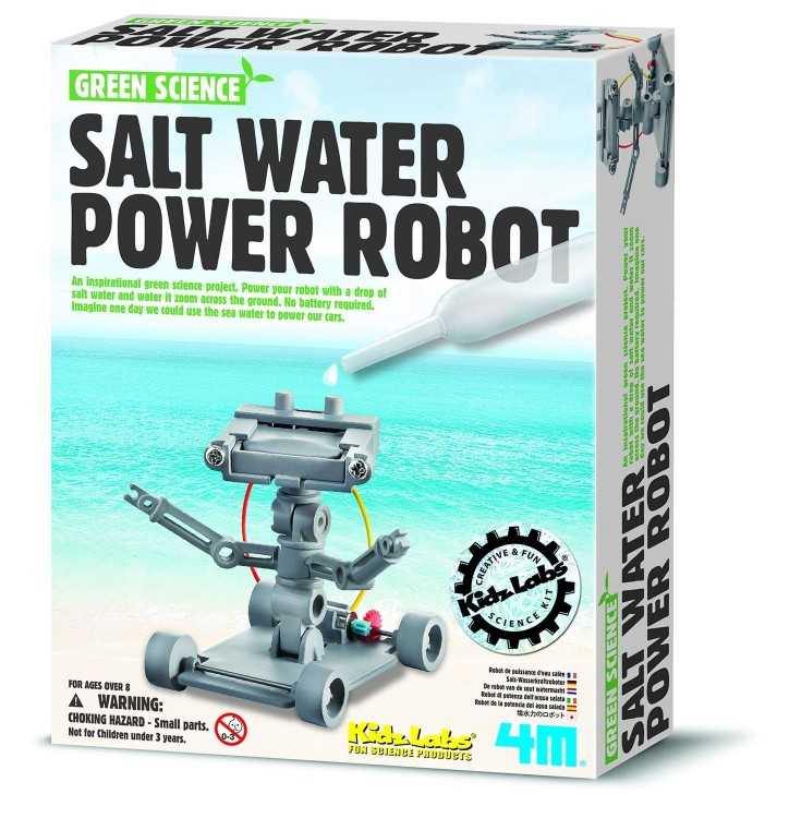 B00AV8XBGG - 4M Salt Water Powered Robot Kit