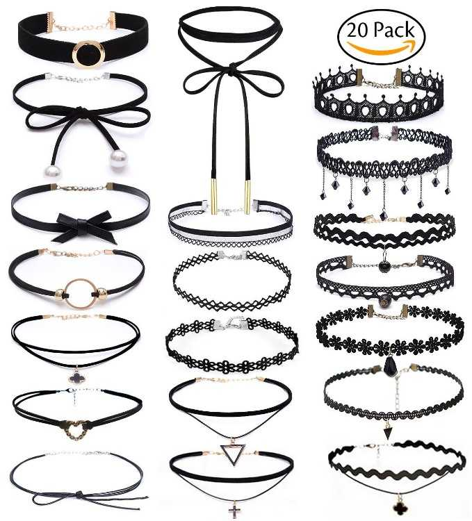 B074GMWCCB - Choker Set, Bassion 20 PCS