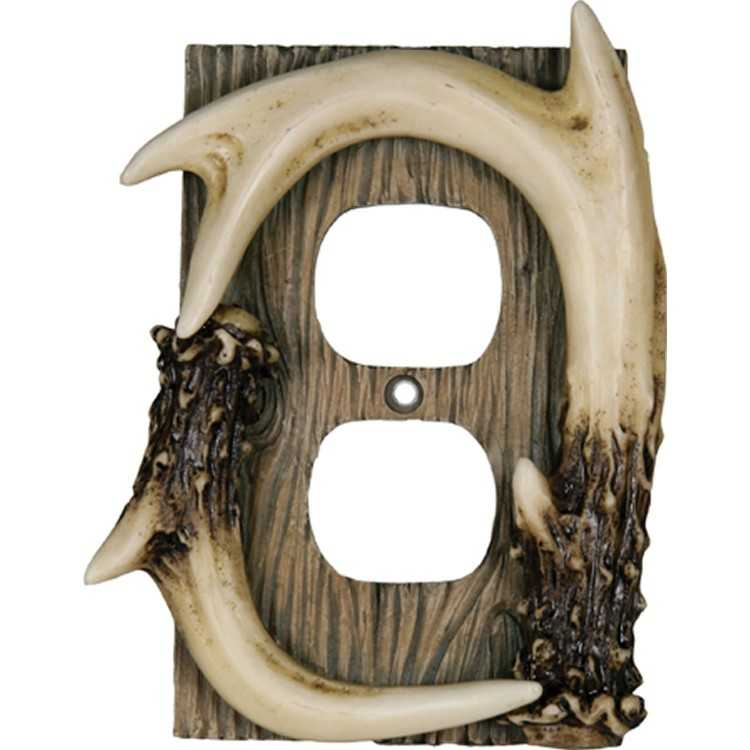 B004DAKDE6 - Deer Antler Electrical Cover