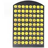 B01M9B08YT - Emoji Stud Earrings 36 pair