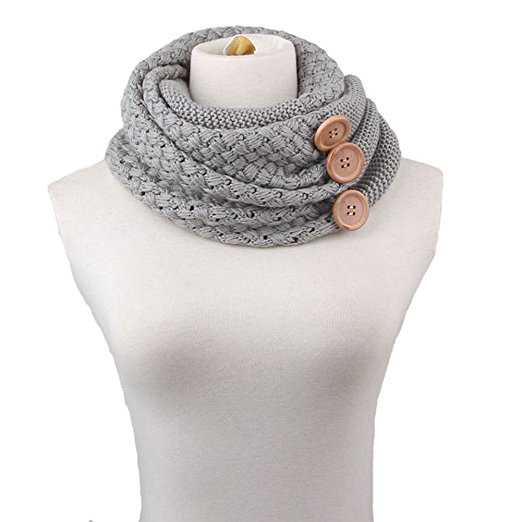 B0183CZ1BO - Winter Infinity Circle Scarf